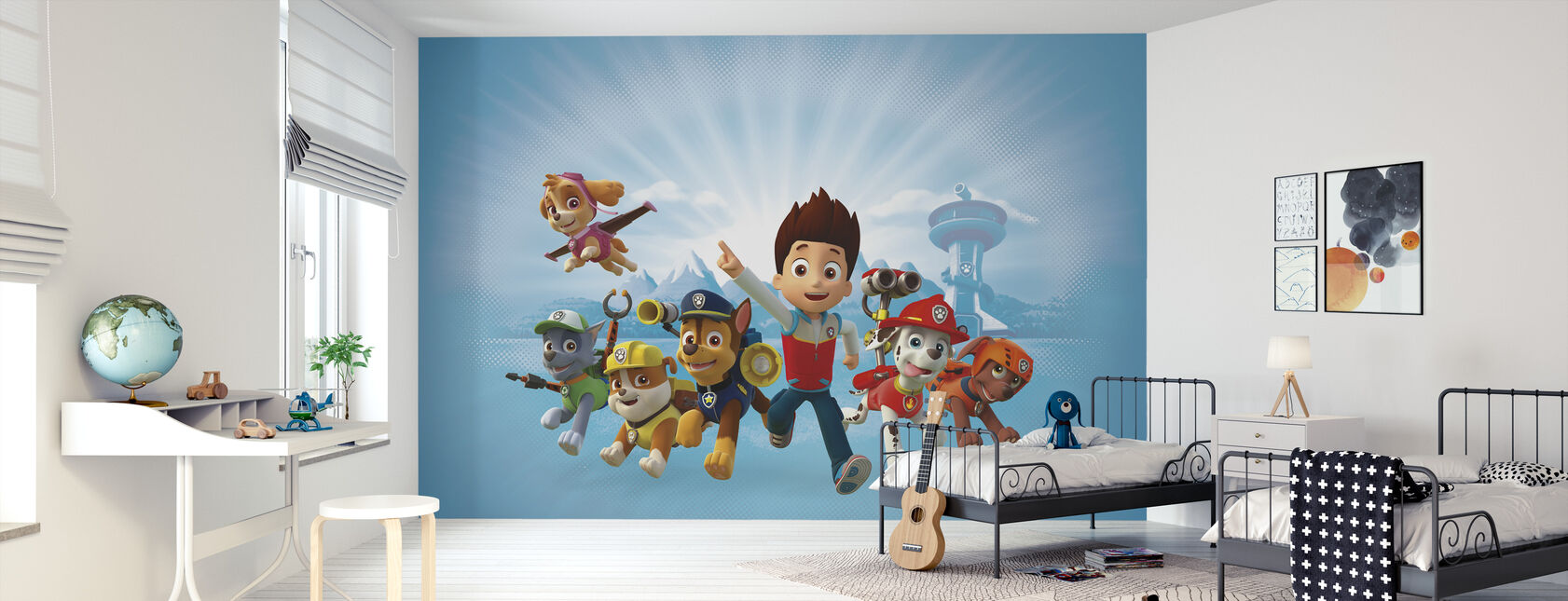 PAW Patrol - PAW Patrol is on a roll - Wallpaper - Kids Room