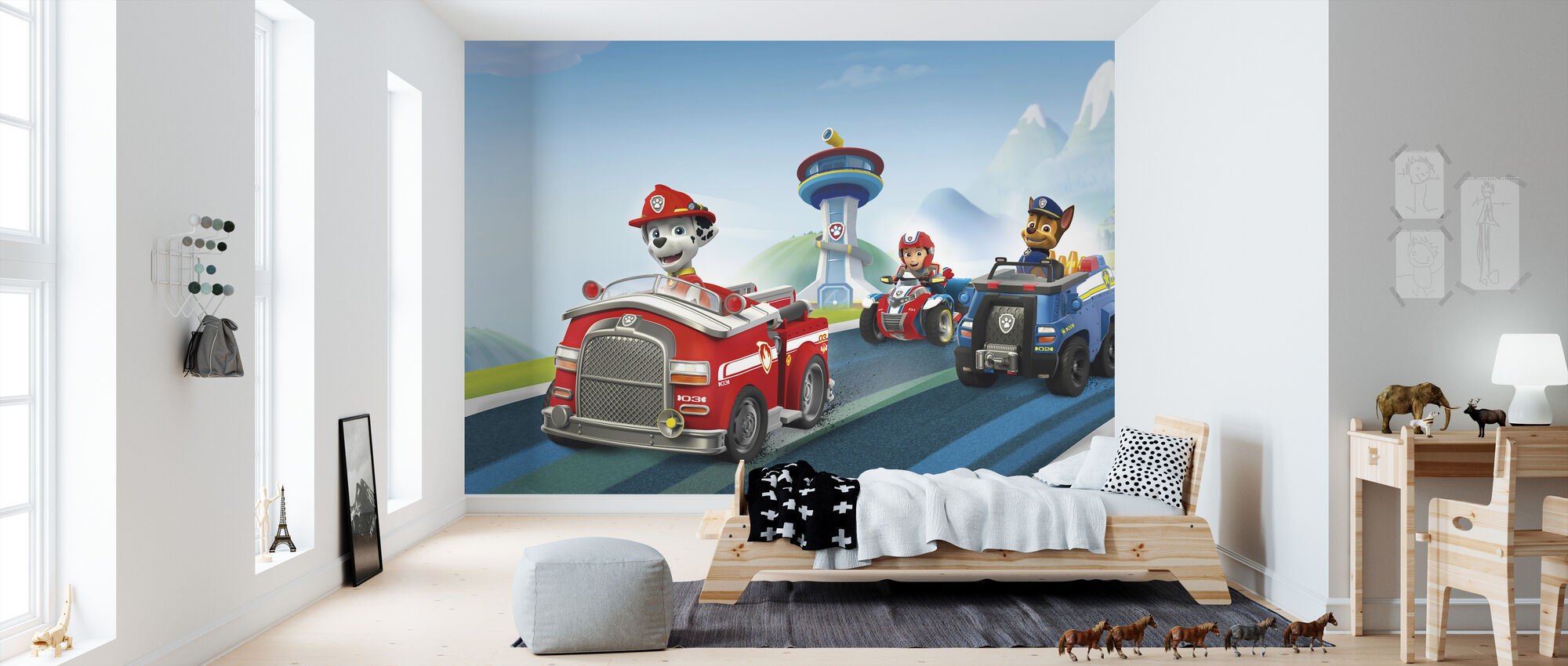 paw patrol ready for action fototapeten online photowall. Black Bedroom Furniture Sets. Home Design Ideas