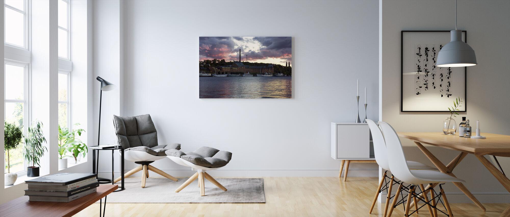 Riddarholmen in Stockholm - Canvas print - Living Room