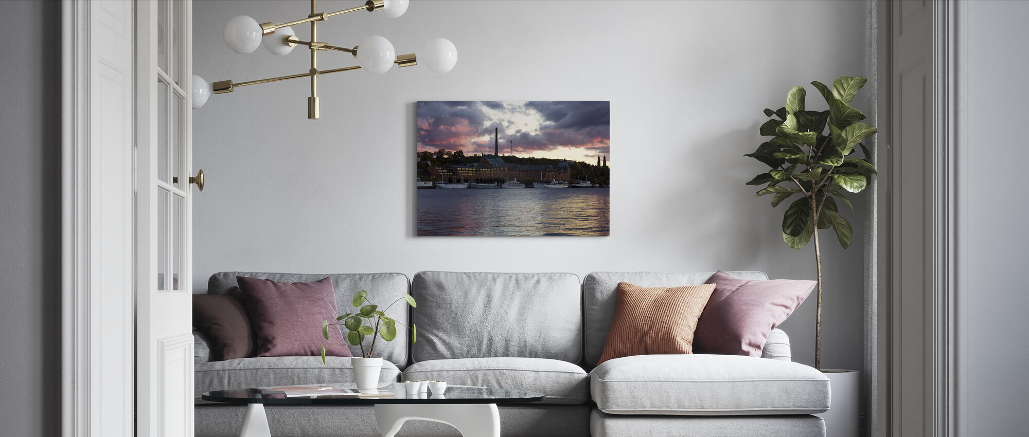 Riddarholmen in Stockholm - Canvas print - Living Room