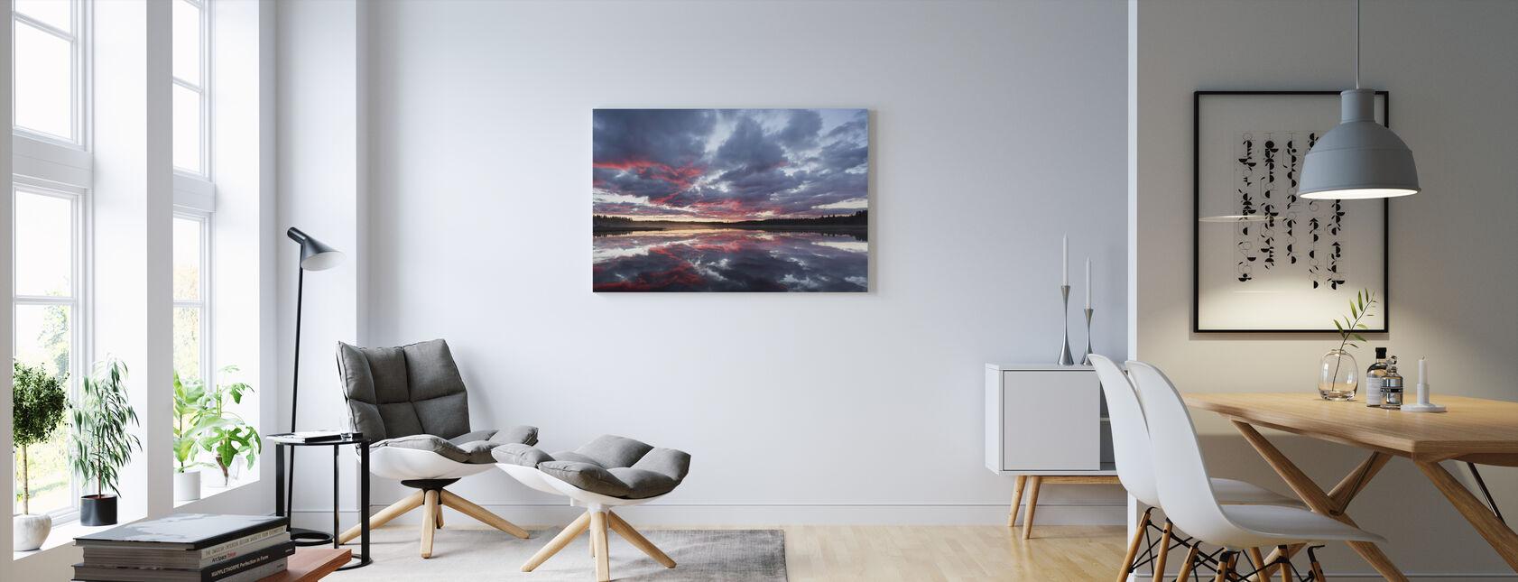 Nydalasjön, Västerbotten - Canvastavla - Vardagsrum
