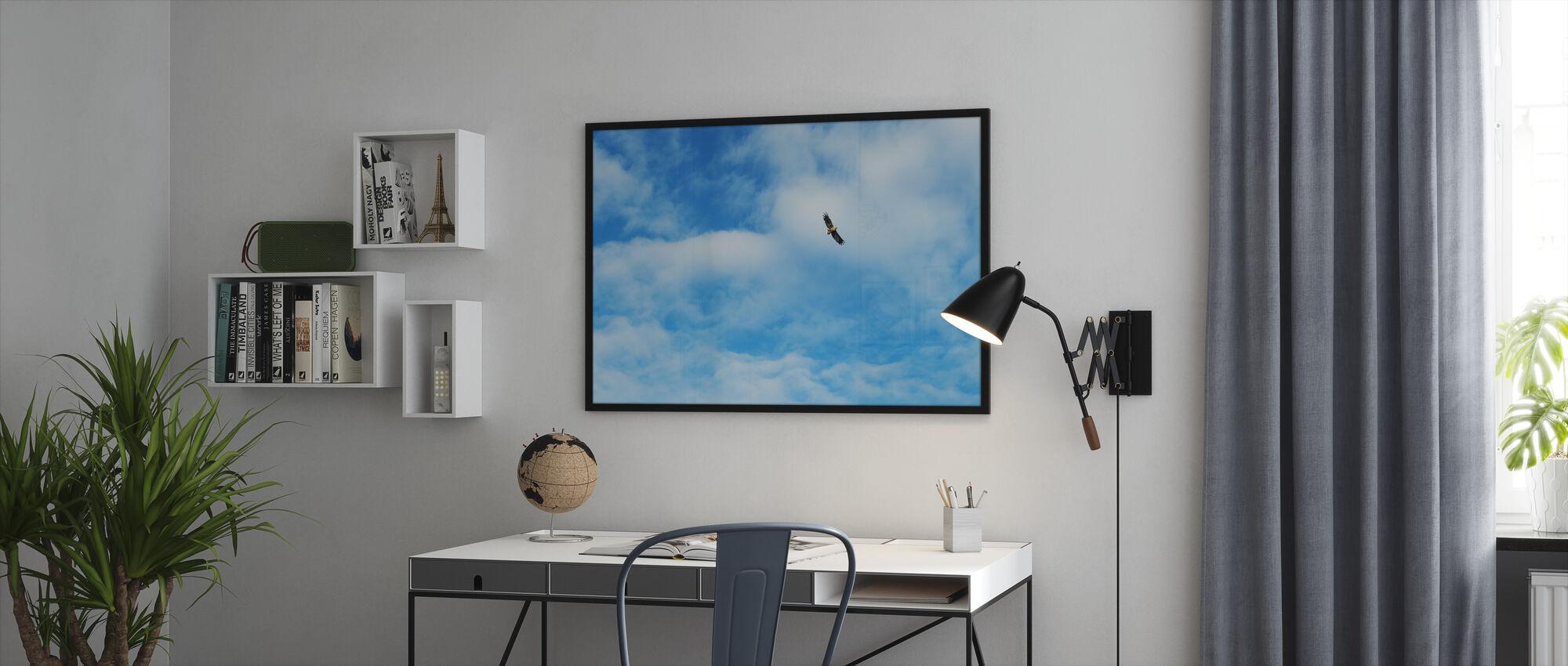 Vliegende Hoog - Ingelijste print - Kantoor