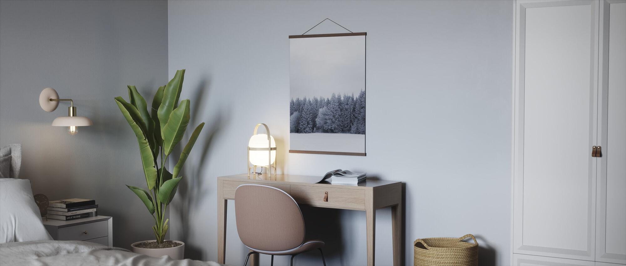 Blue Fir Trees - Poster - Office