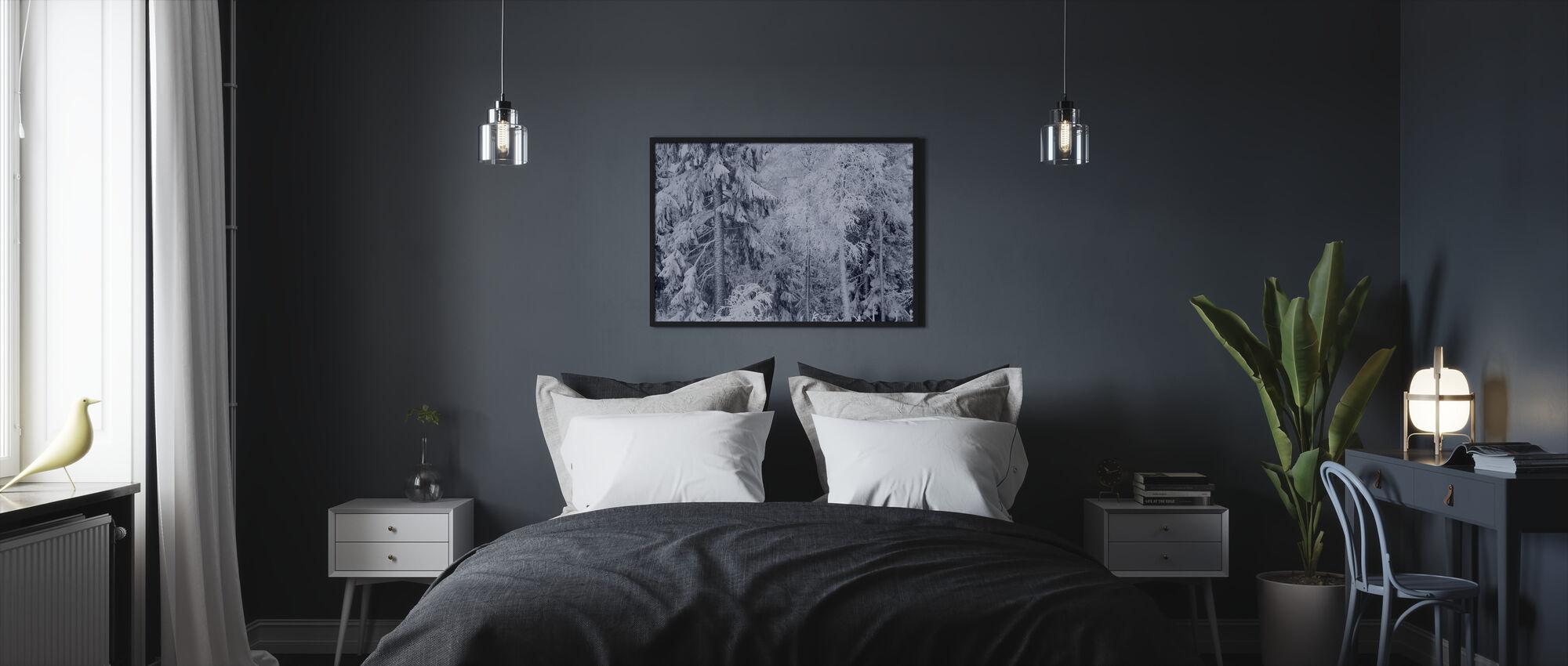 Jäätynyt hetki - Kehystetty kuva - Makuuhuone