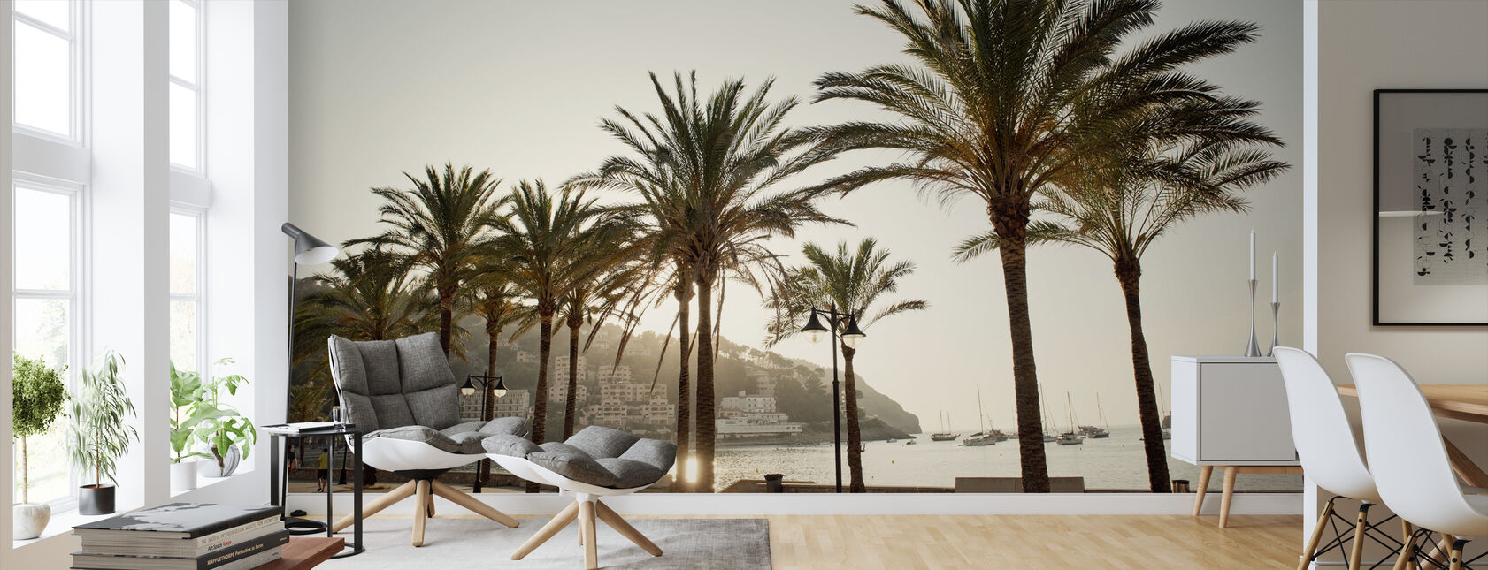 Mallorca Boardwalk - Wallpaper - Living Room