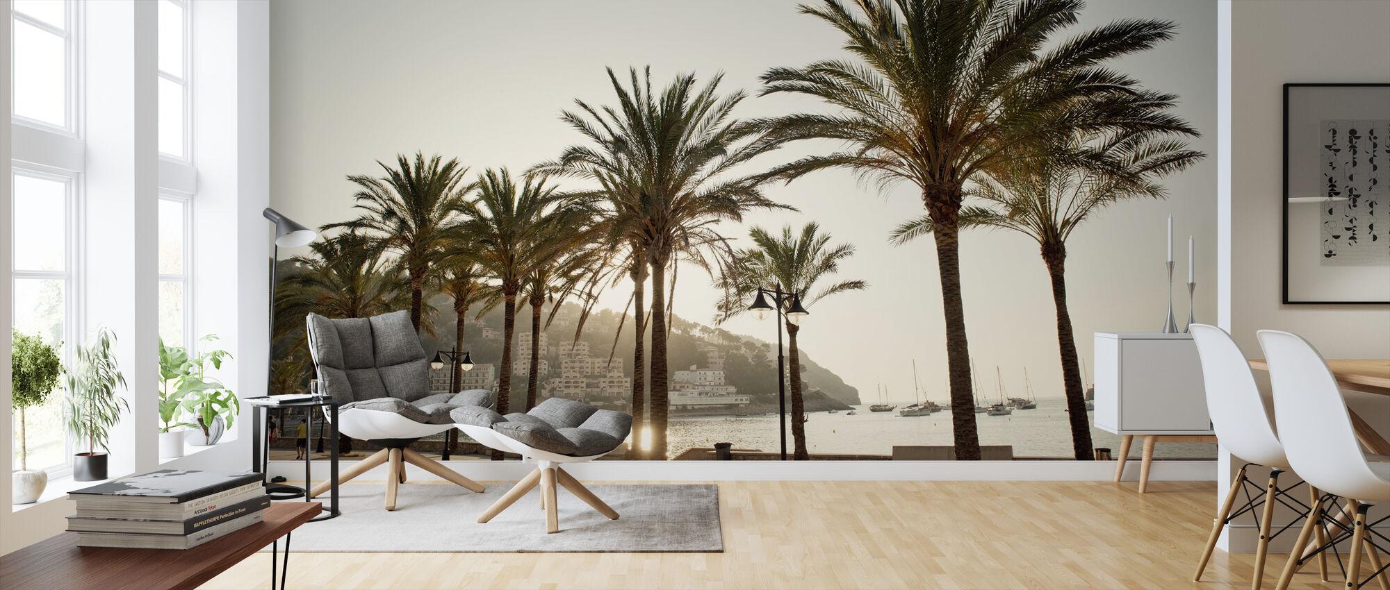 Mallorca Boardwalk - Wallpaper - Living Room
