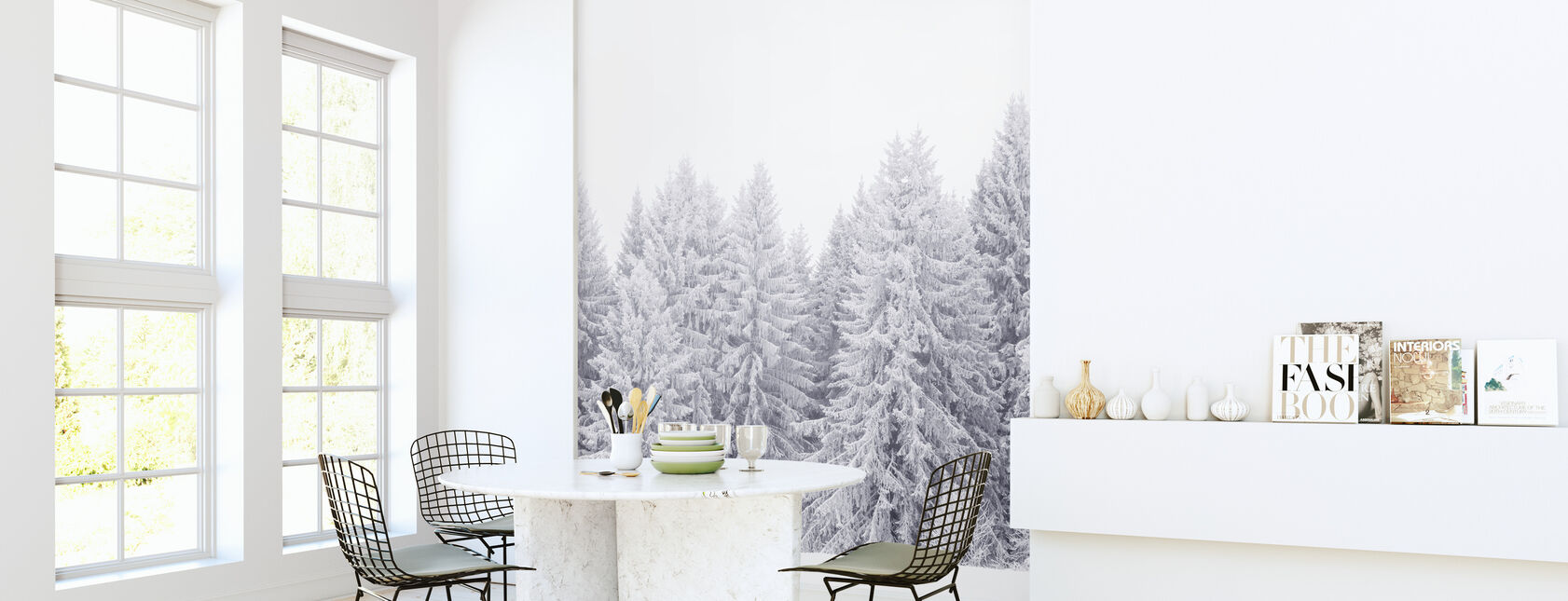 Värmland in White - Wallpaper - Kitchen