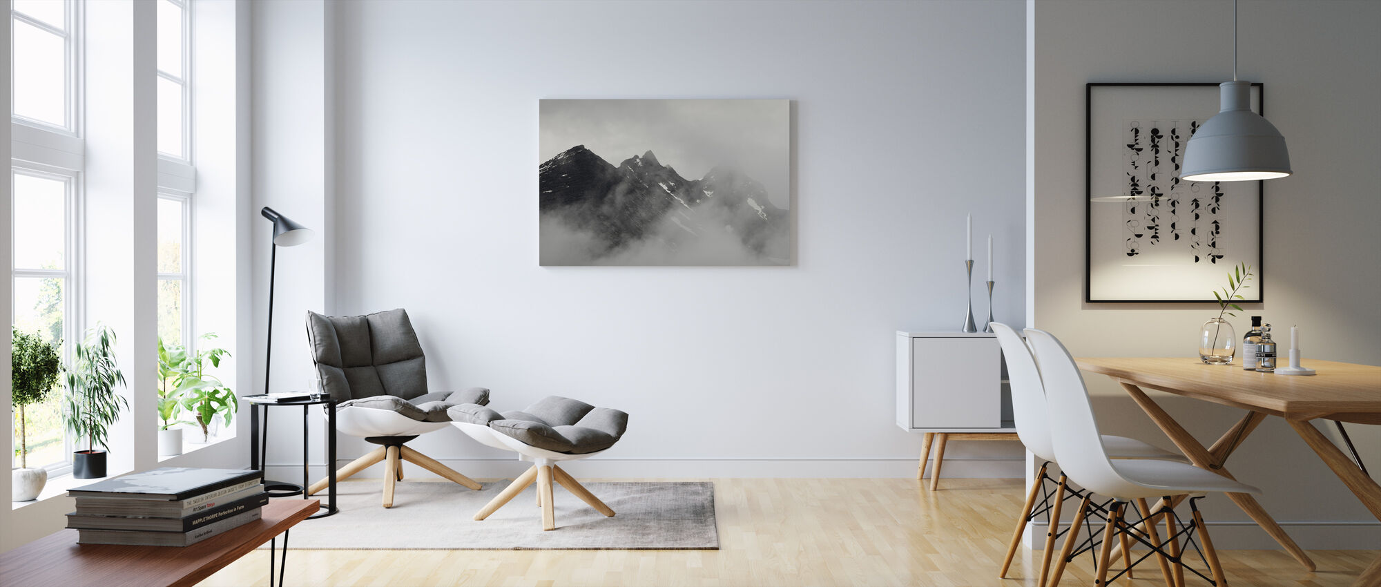 Vettisfossen Mountains, Norway - Canvas print - Living Room