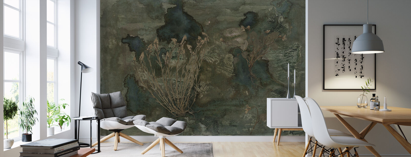 Flora Hysterica 4 - Wallpaper - Living Room