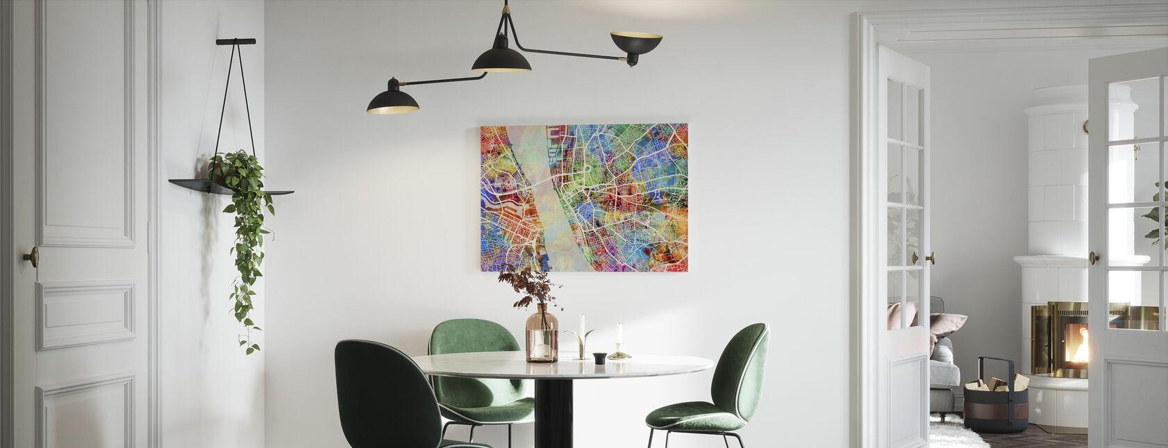 Liverpool Street Map Flerfarget - Lerretsbilde - Kjøkken