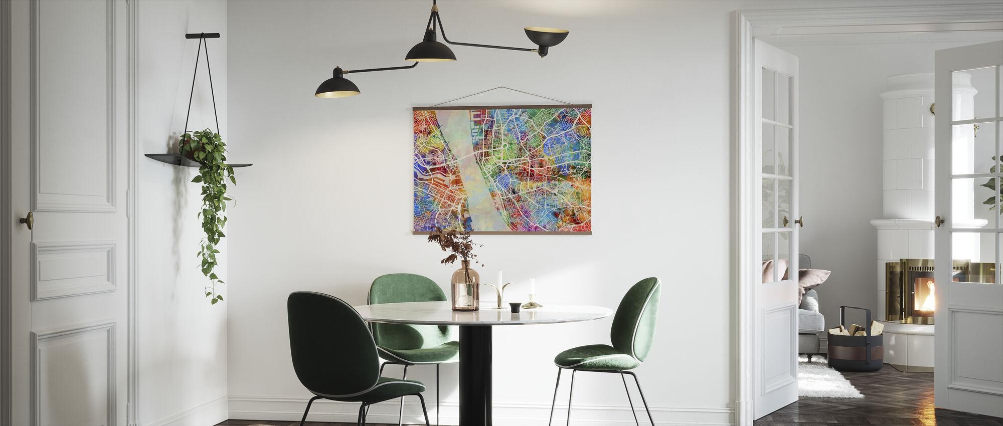 Liverpool Street Kartta Multicolour - Juliste - Keittiö