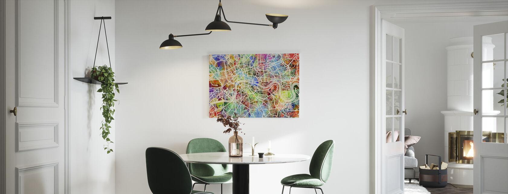 London Street Map Multicolour - Canvas print - Kitchen