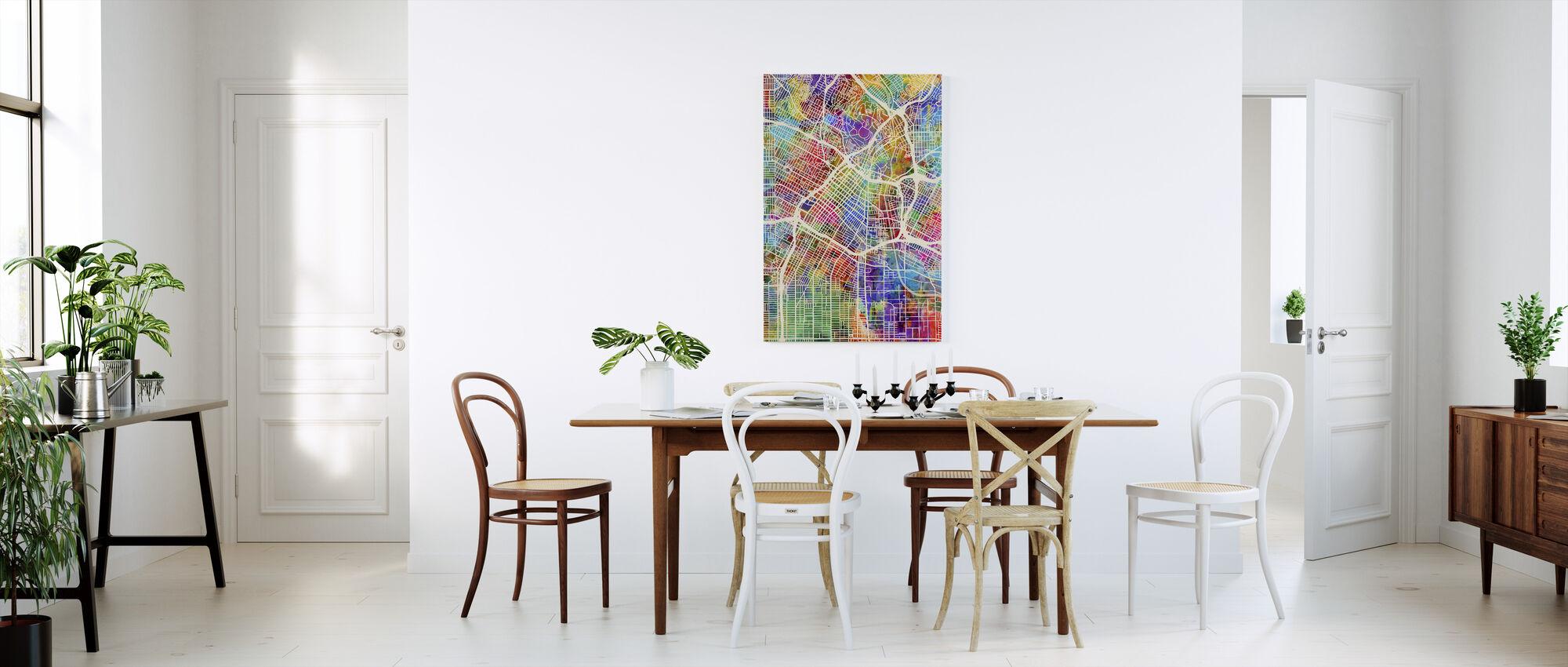 Los Angeles Street Map Multicolour - Canvas print - Kitchen