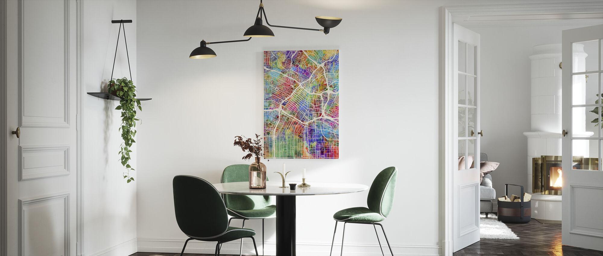 Los Angeles Street Map Multicolor - Lienzo - Cocina