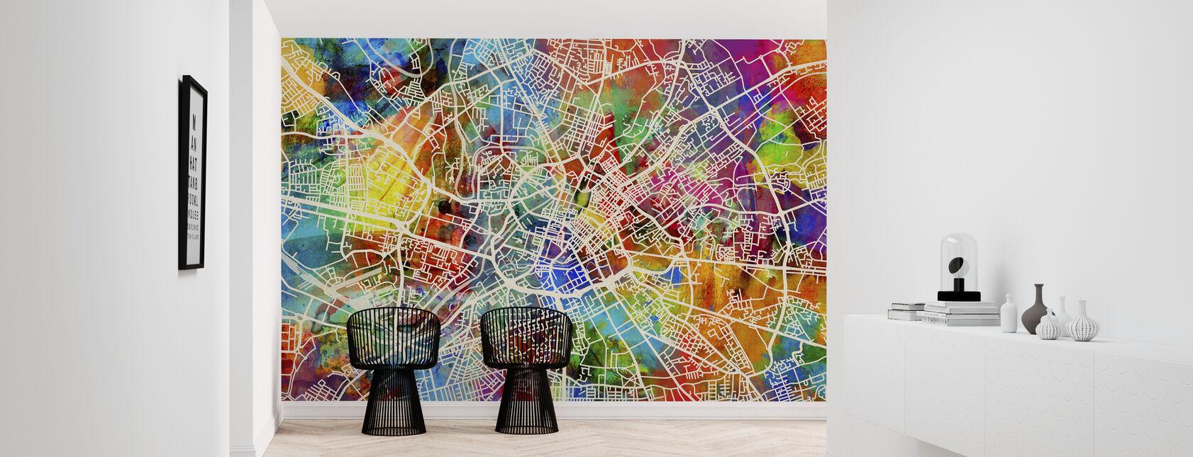 Manchester Street Map Multicolour - Wallpaper - Hallway