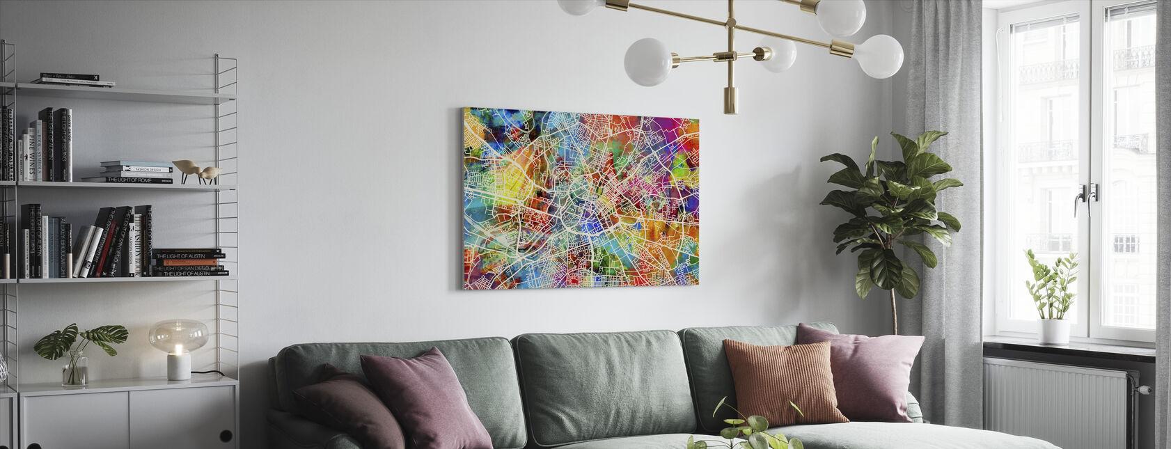 Carte de rue Manchester Multicolore - Impression sur toile - Salle à manger
