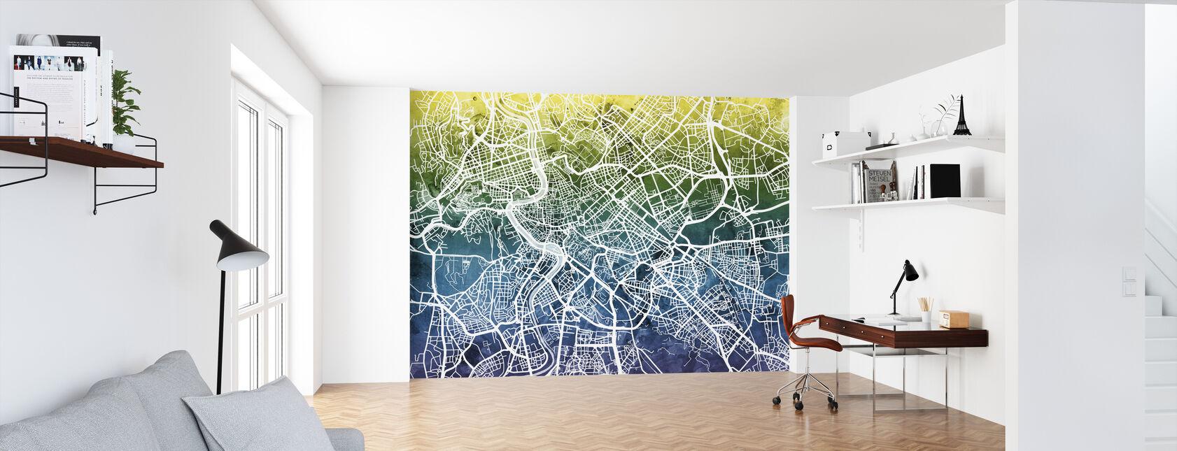 Rom Street Karta Bluegreen - Tapet - Kontor