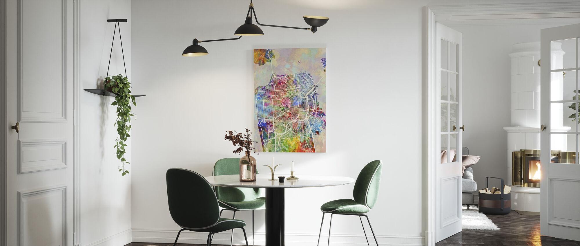 San Fransisco Street Map Multicolour - Canvas print - Kitchen