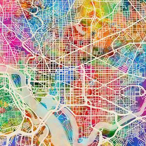 Washington DC Street Map Purple – Bestellen Sie Ihr ...