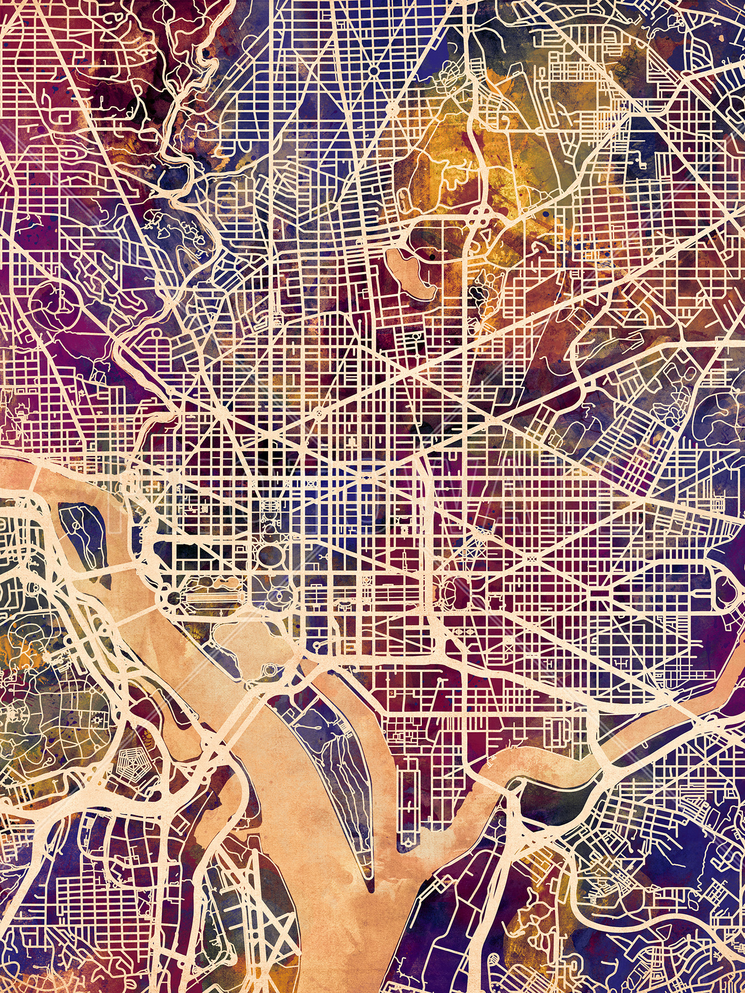 It is a graphic of Printable Map of Washington Dc with high quality
