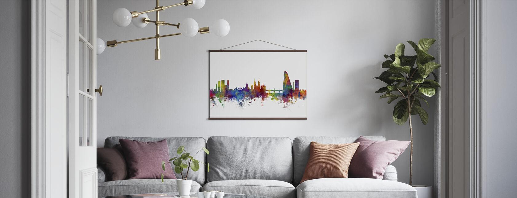 Basel Skyline - Poster - Living Room
