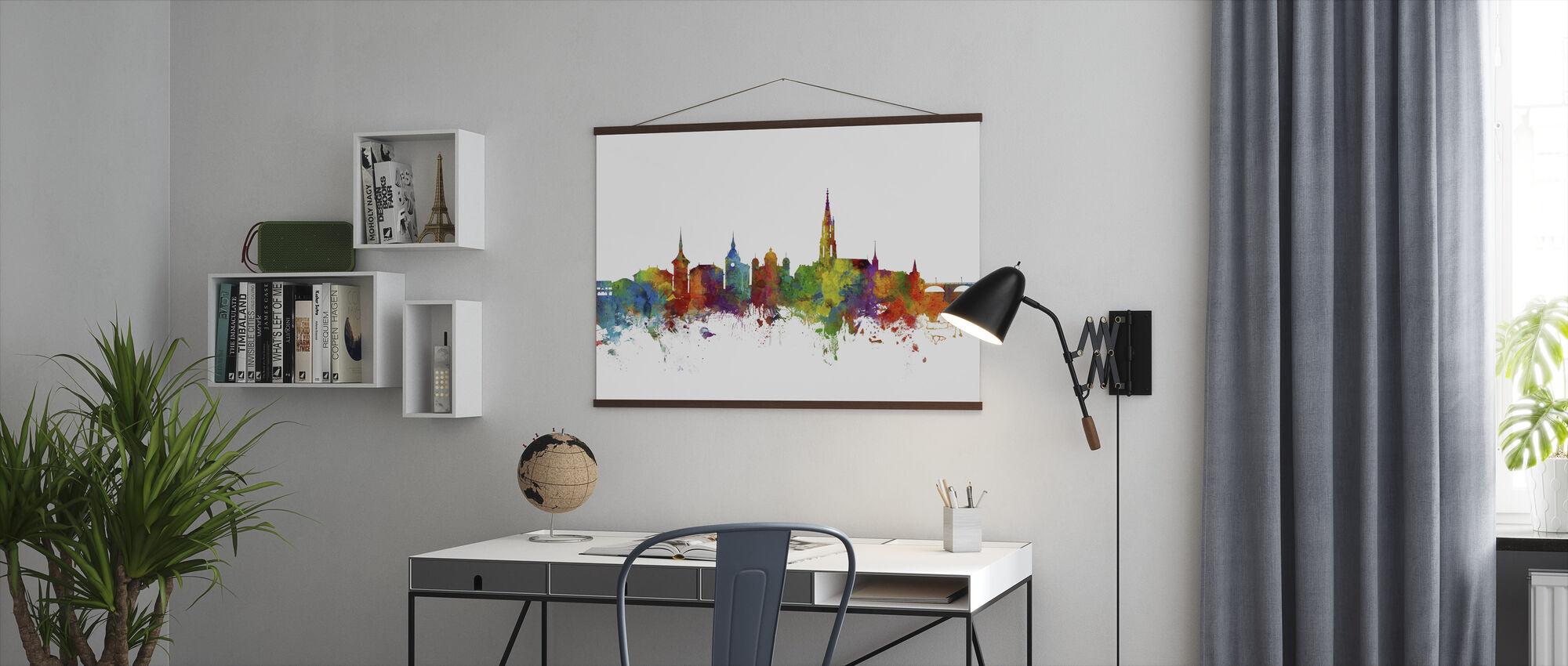 Skyline van Bern - Poster - Kantoor