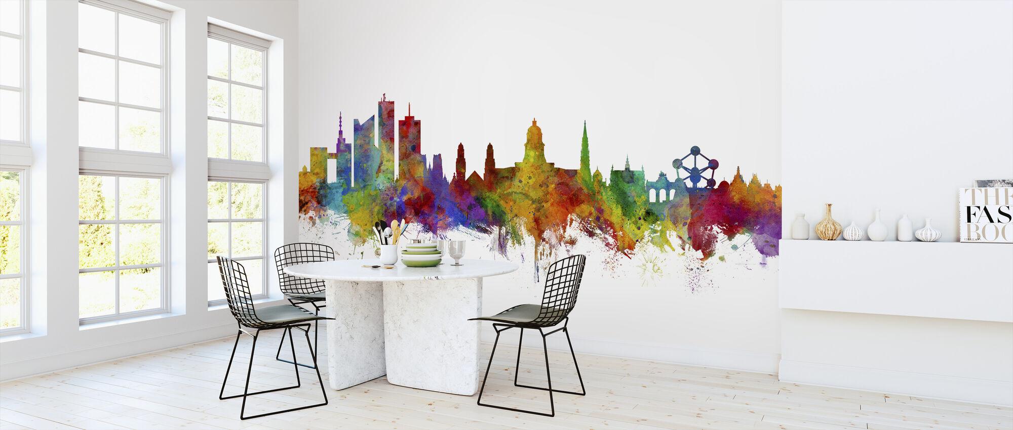 Brussels Skyline - Wallpaper - Kitchen