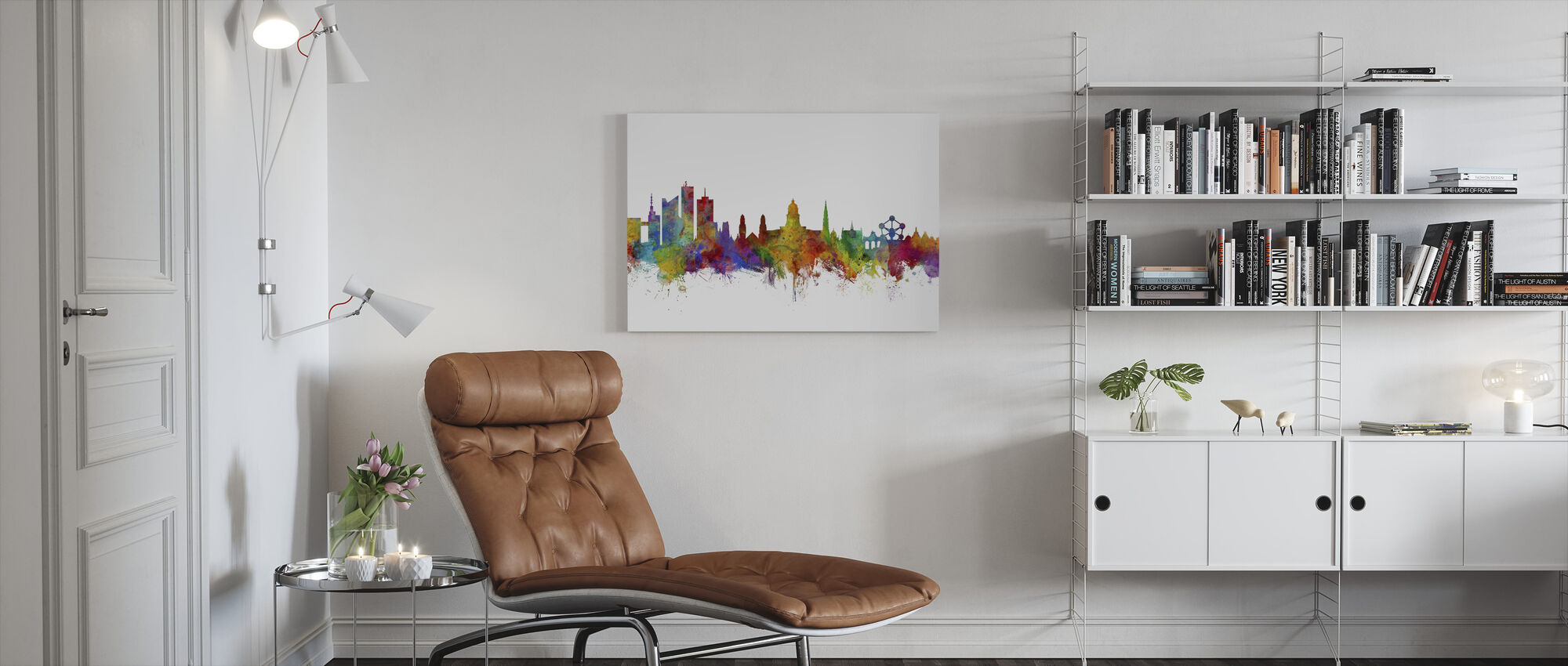 Brussels Skyline - Canvas print - Living Room