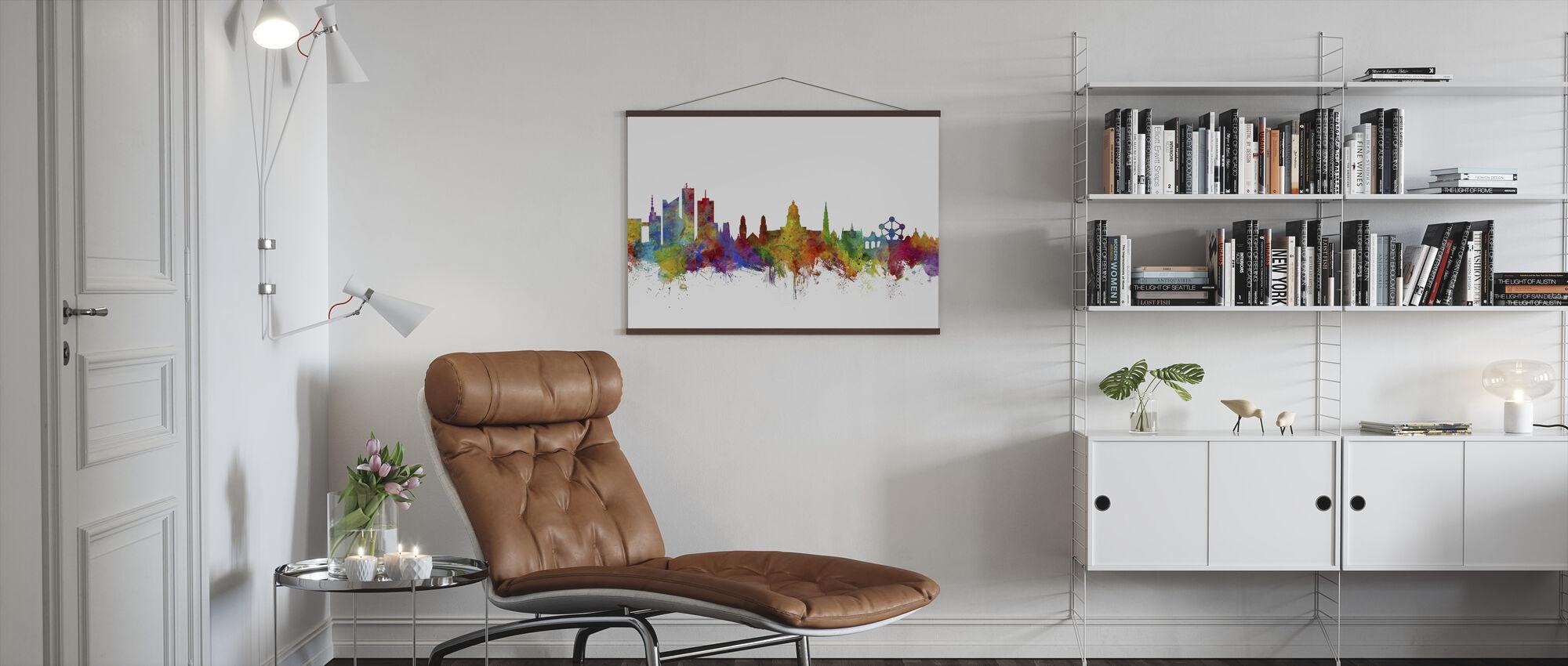 Brussels Skyline - Poster - Living Room