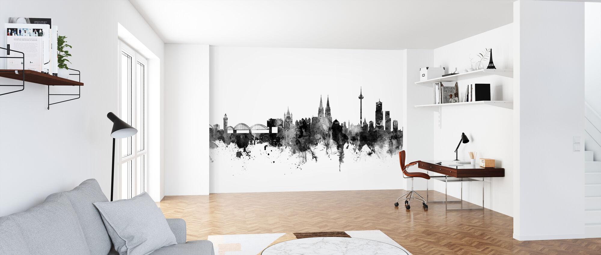Kölner Skyline Schwarz - Tapete - Büro