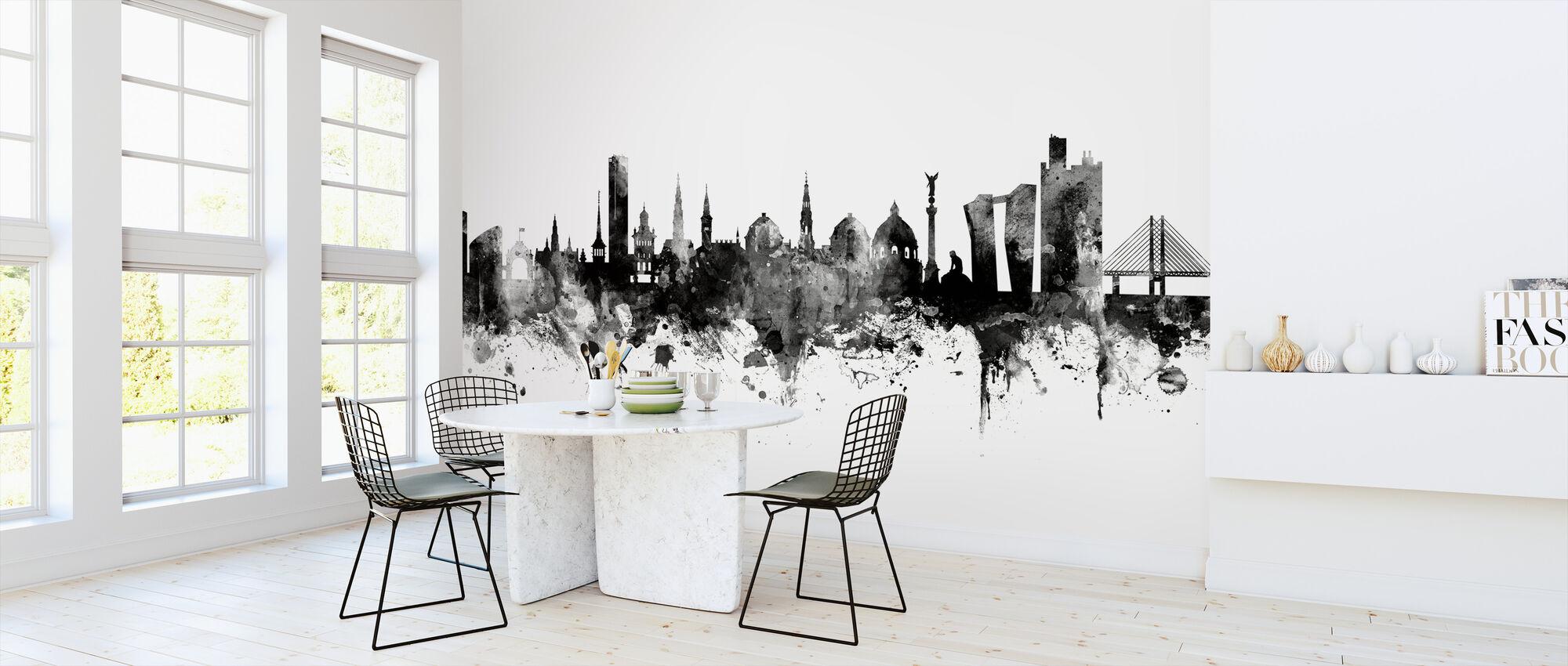 Copenhagen Skyline Black - Wallpaper - Kitchen