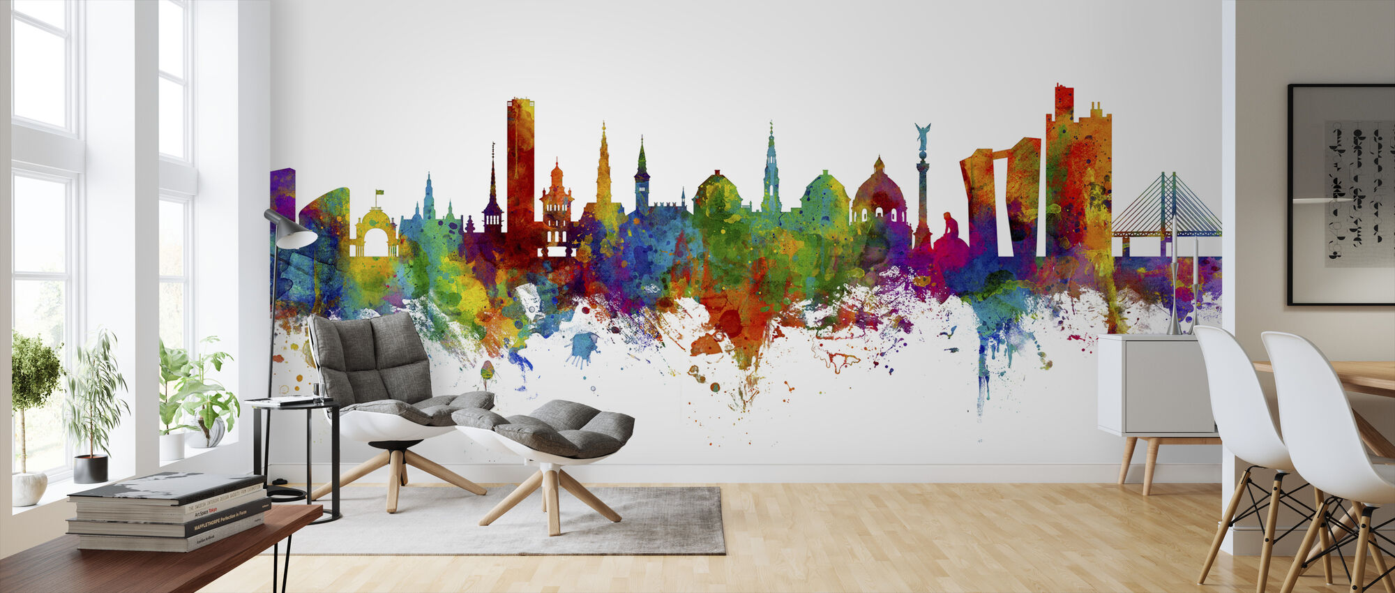Copenhagen Skyline - Wallpaper - Living Room