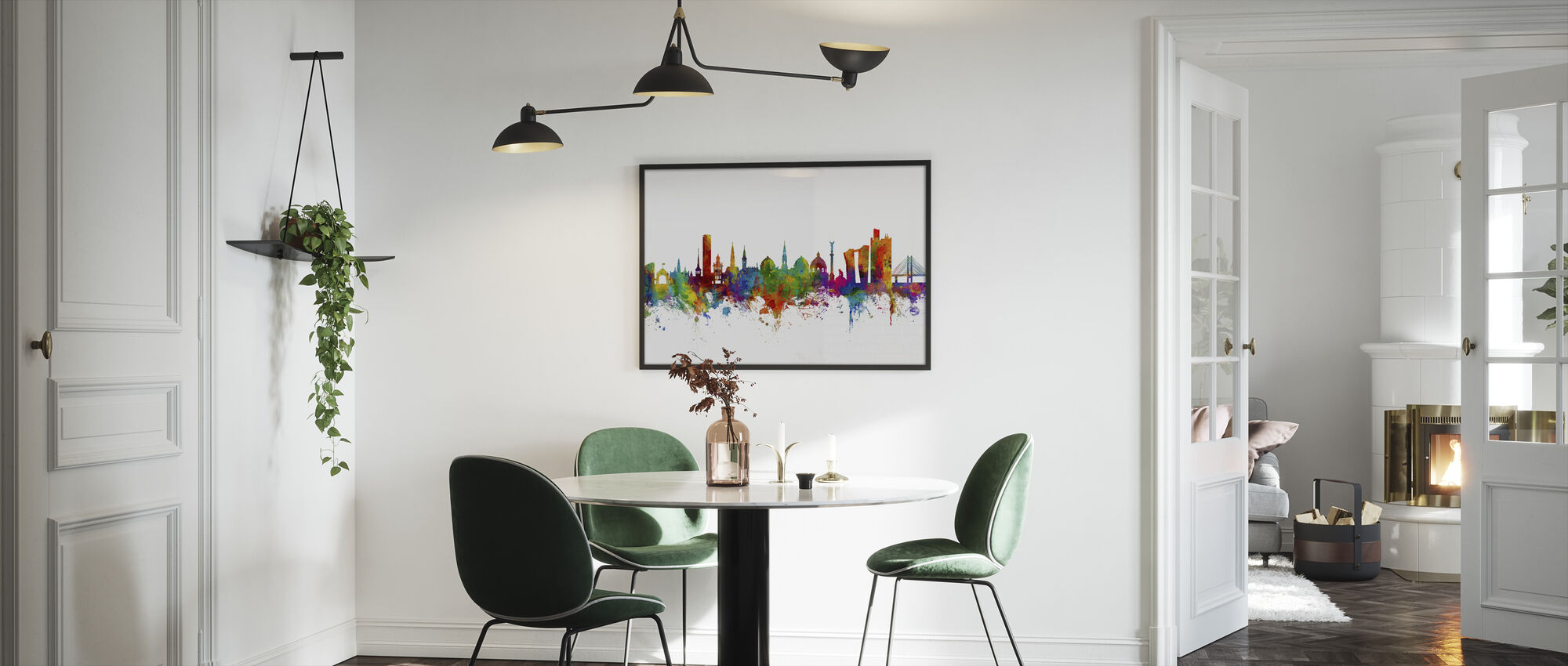 Copenhagen Skyline - Framed print - Kitchen