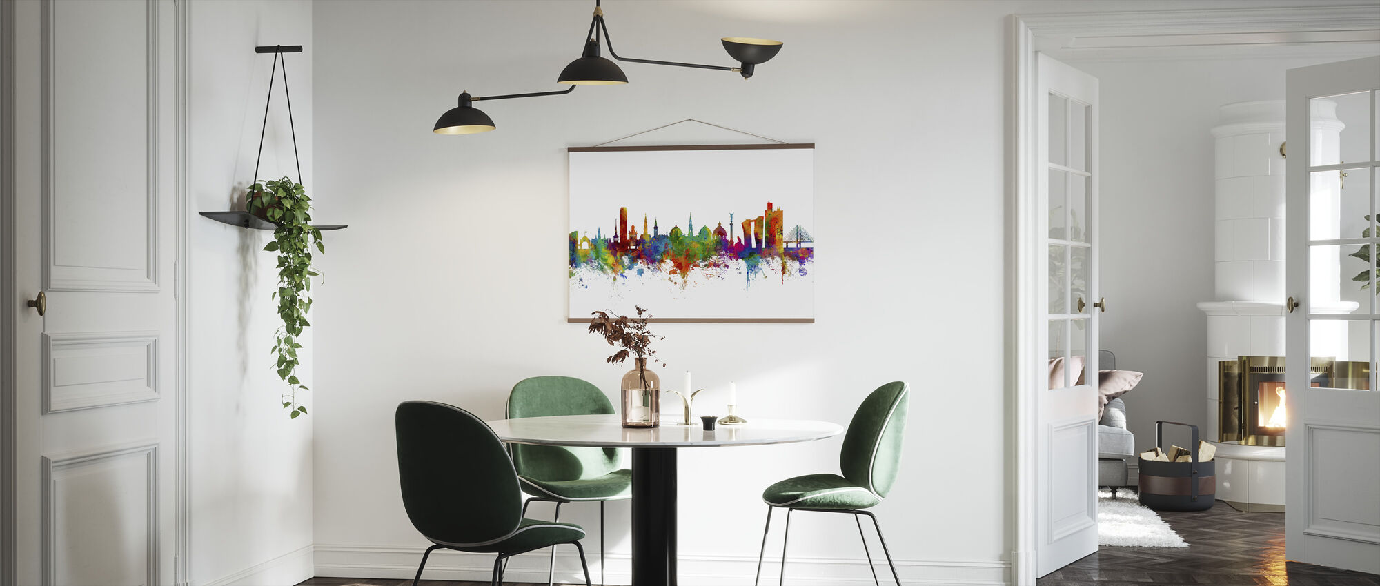 Copenhagen Skyline - Poster - Kitchen