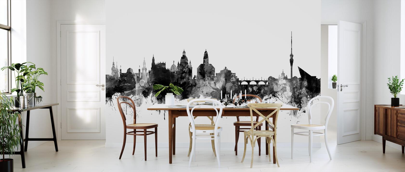 dresden skyline black fototapete nach ma photowall. Black Bedroom Furniture Sets. Home Design Ideas