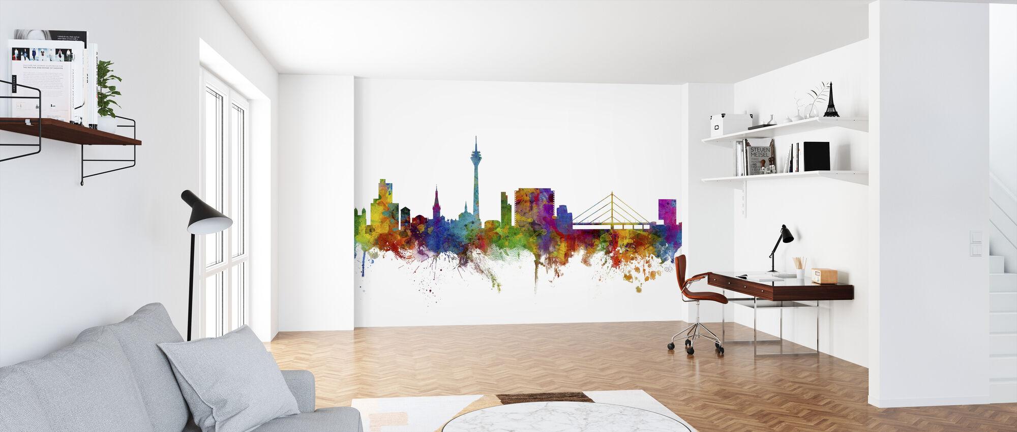 Düsseldorf Skyline - Tapete - Büro