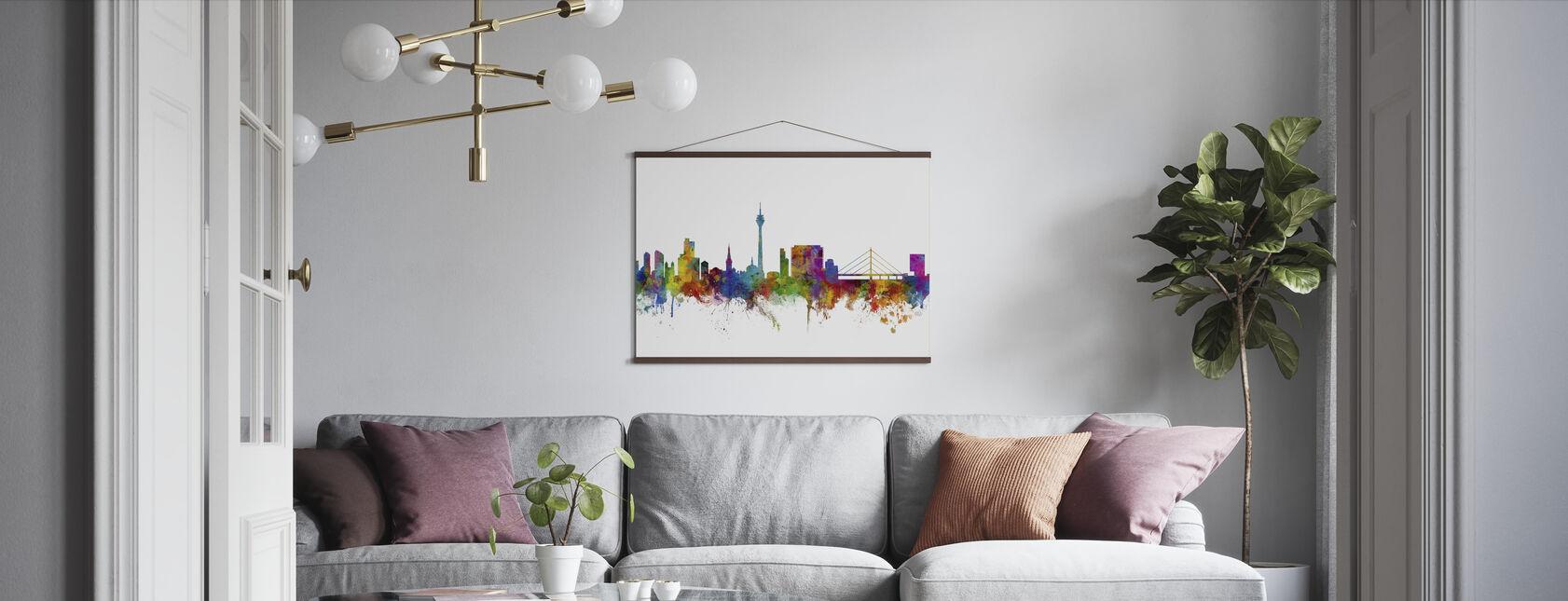 Düsseldorf Skyline - Poster - Wohnzimmer