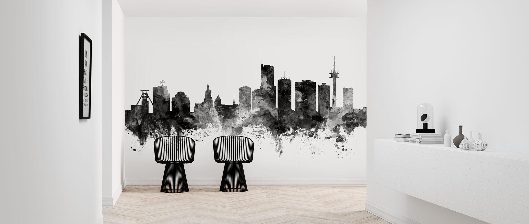 Dining Skyline Black - Wallpaper - Hallway