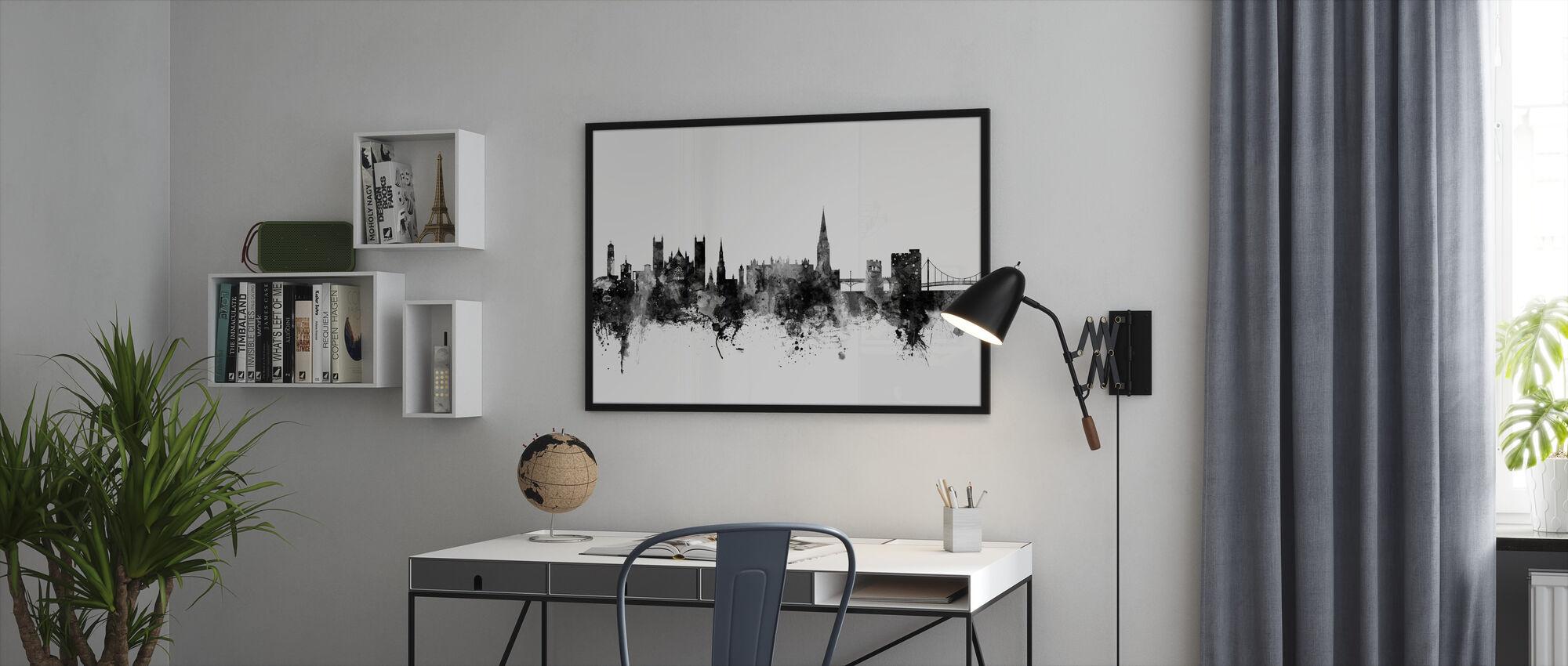 Exeter Skyline Black - Framed print - Office