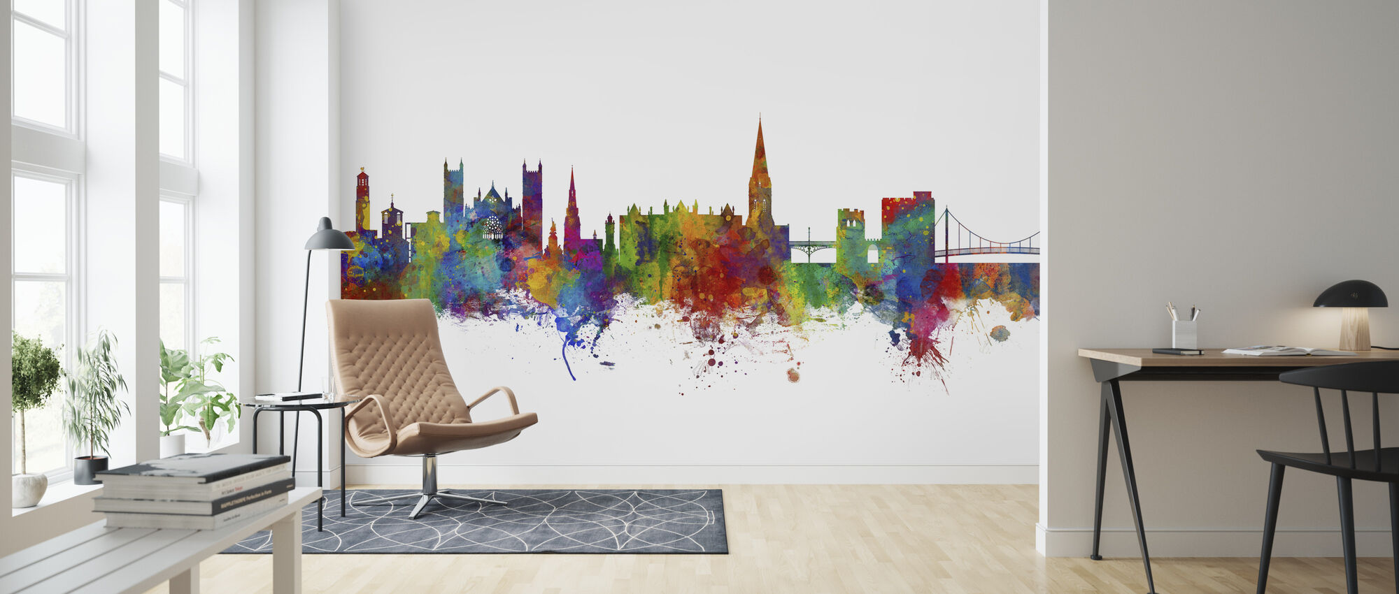 Exeter Skyline - Wallpaper - Living Room
