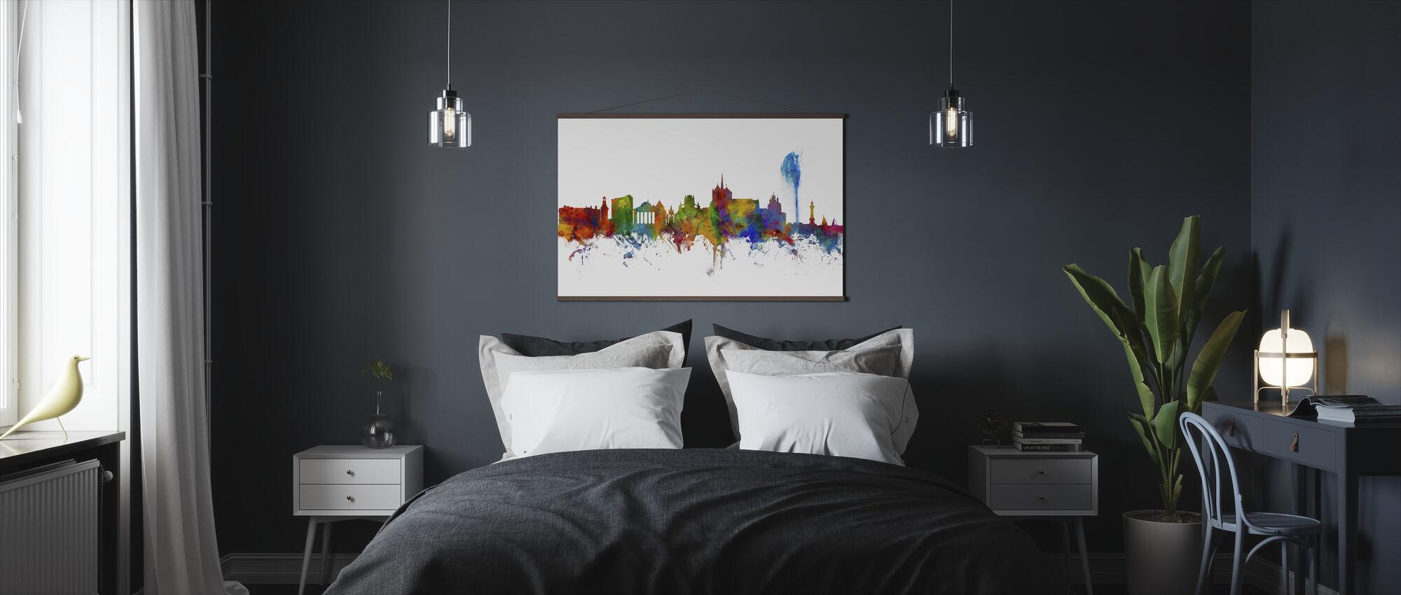 Skyline van Genève - Poster - Slaapkamer