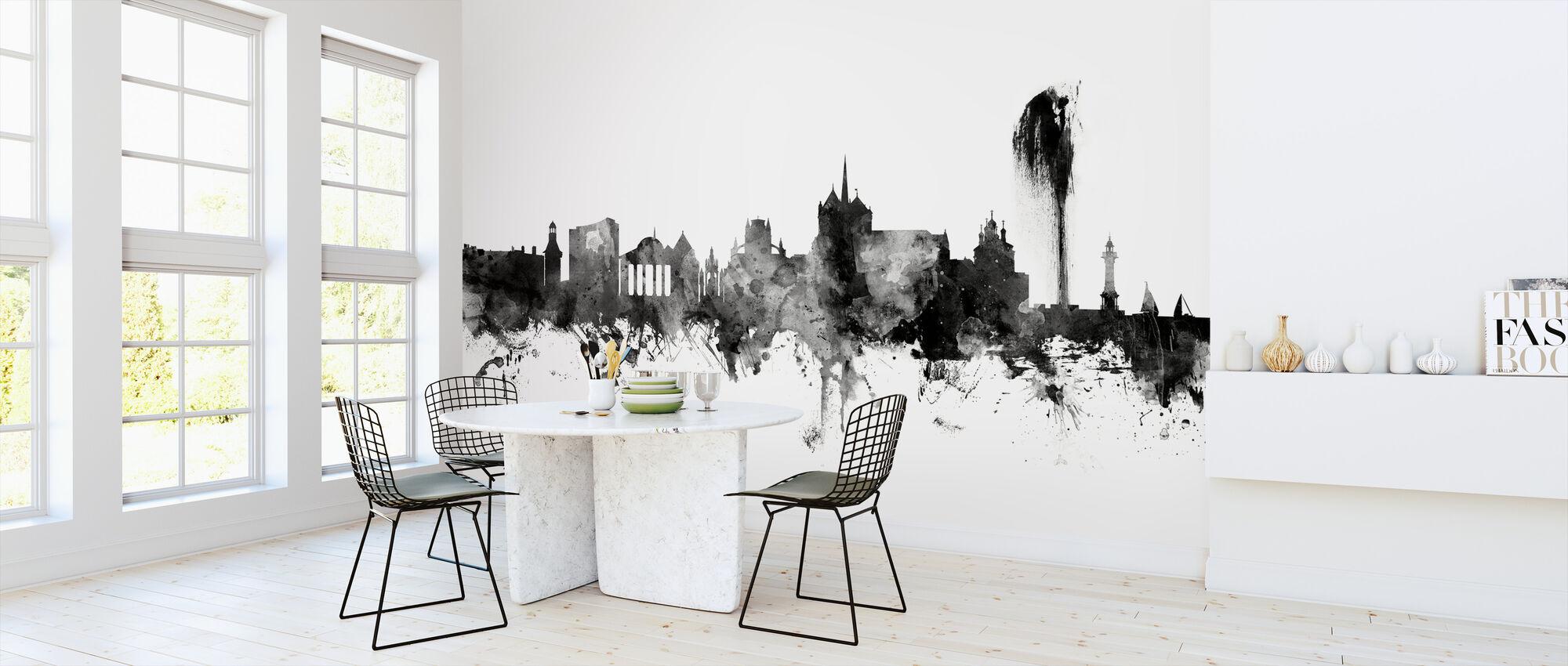 Geneva Skyline Black - Wallpaper - Kitchen