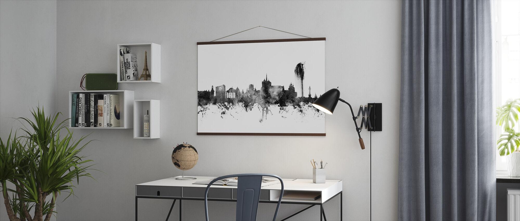 Geneva Skyline Zwart - Poster - Kantoor