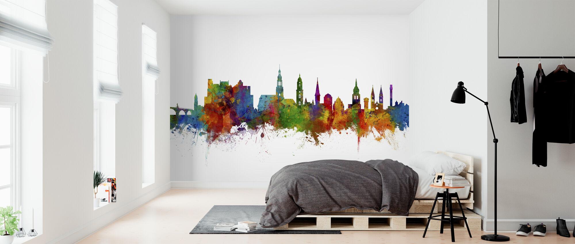 Heidelberg Skyline - Tapetti - Makuuhuone
