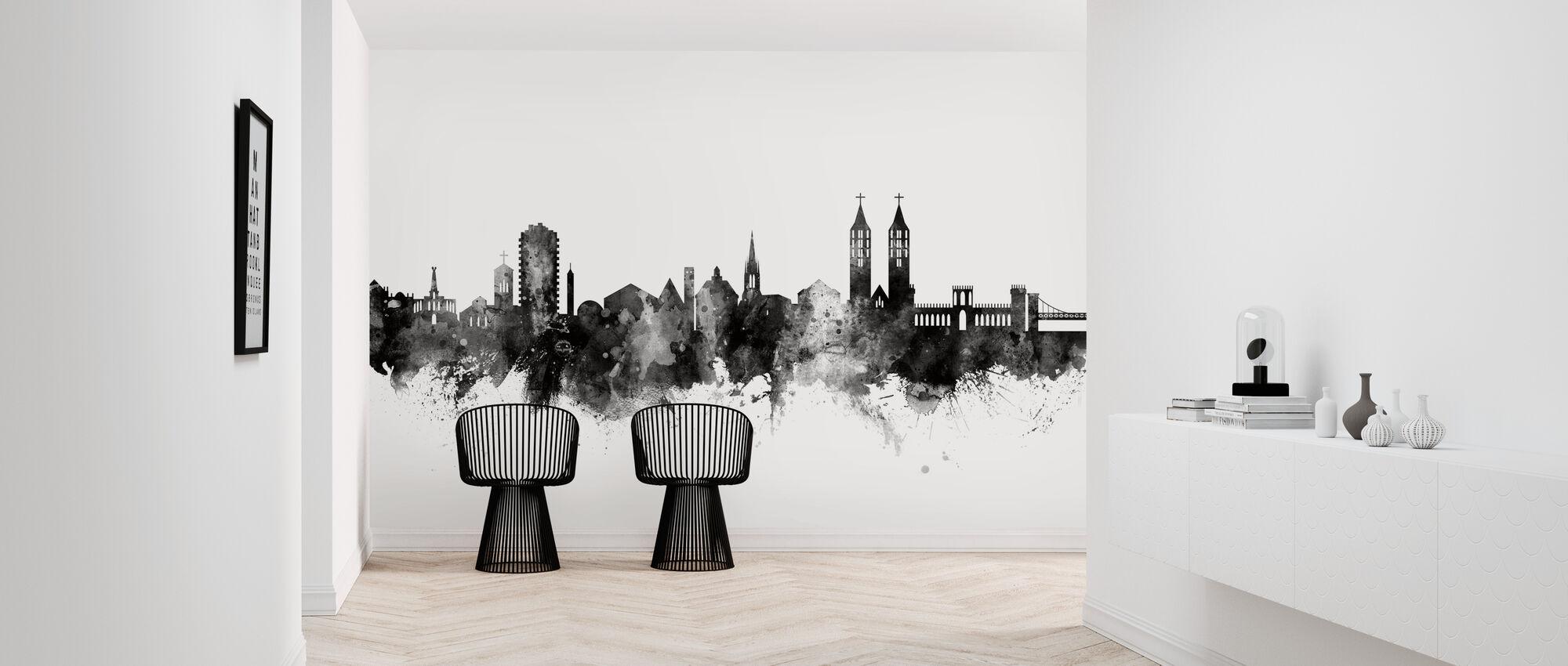 Kassel Skyline Black - Papel pintado - Corredor