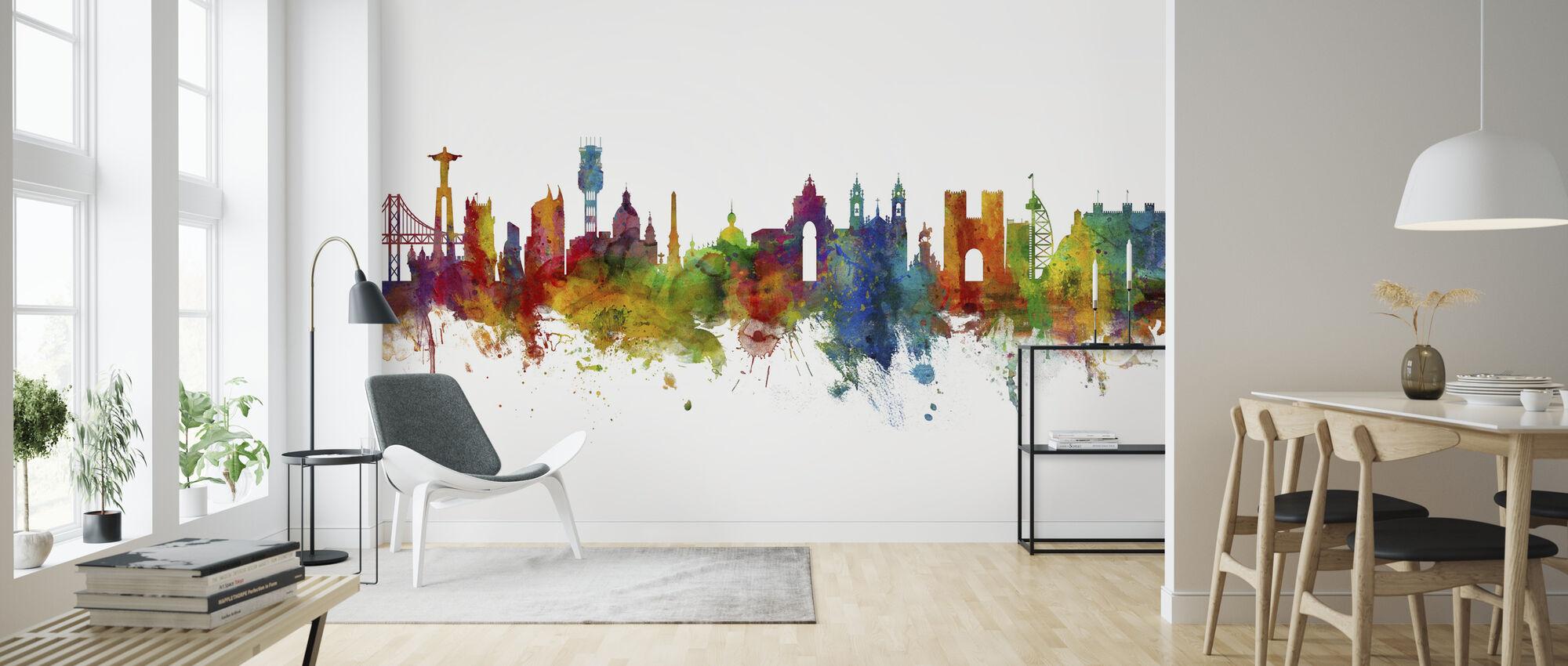 Lisbon Skyline - Wallpaper - Living Room
