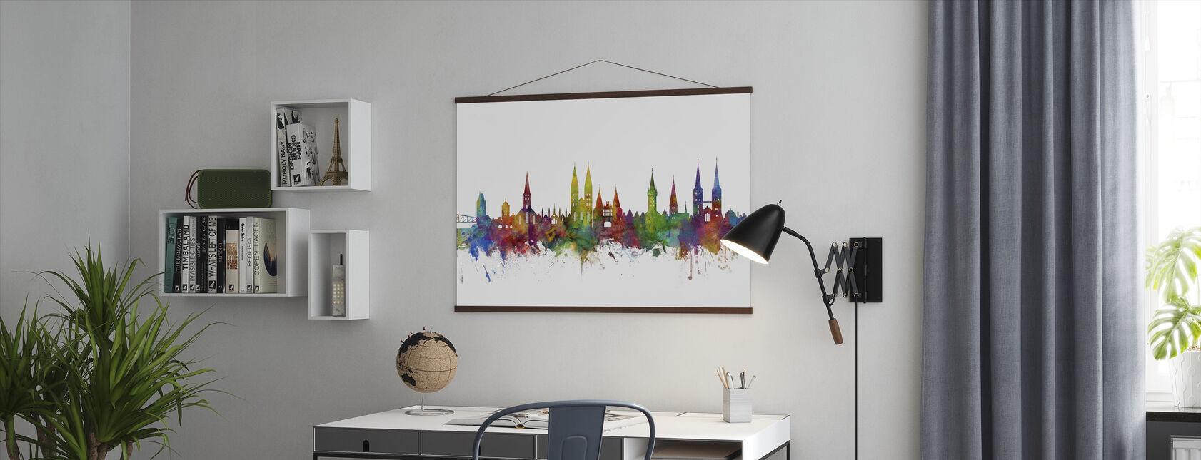 Skyline von Lu ̈ beck - Poster - Büro