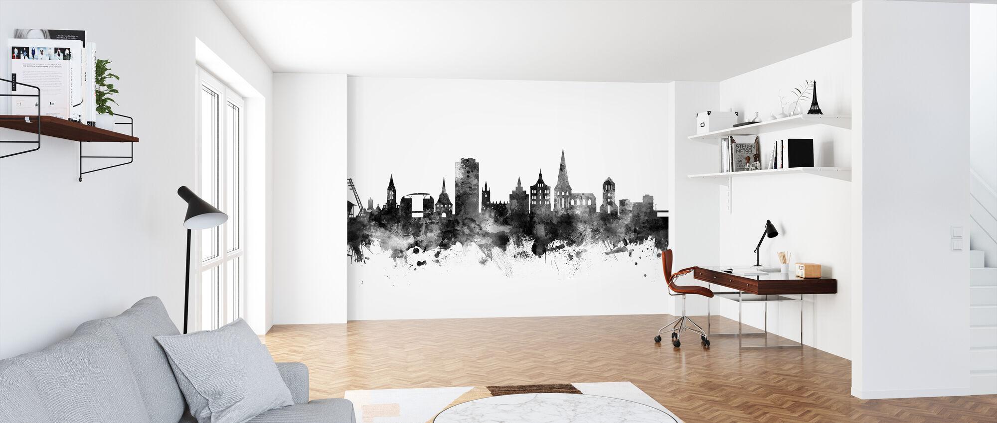 Rostock Skyline Black - Wallpaper - Office