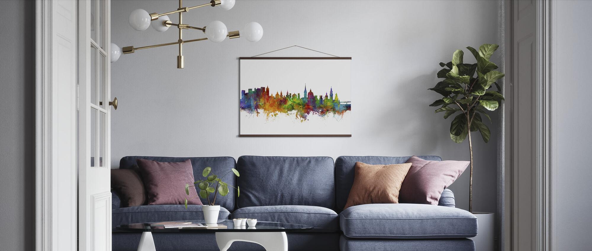 Salzburg Skyline - Poster - Living Room