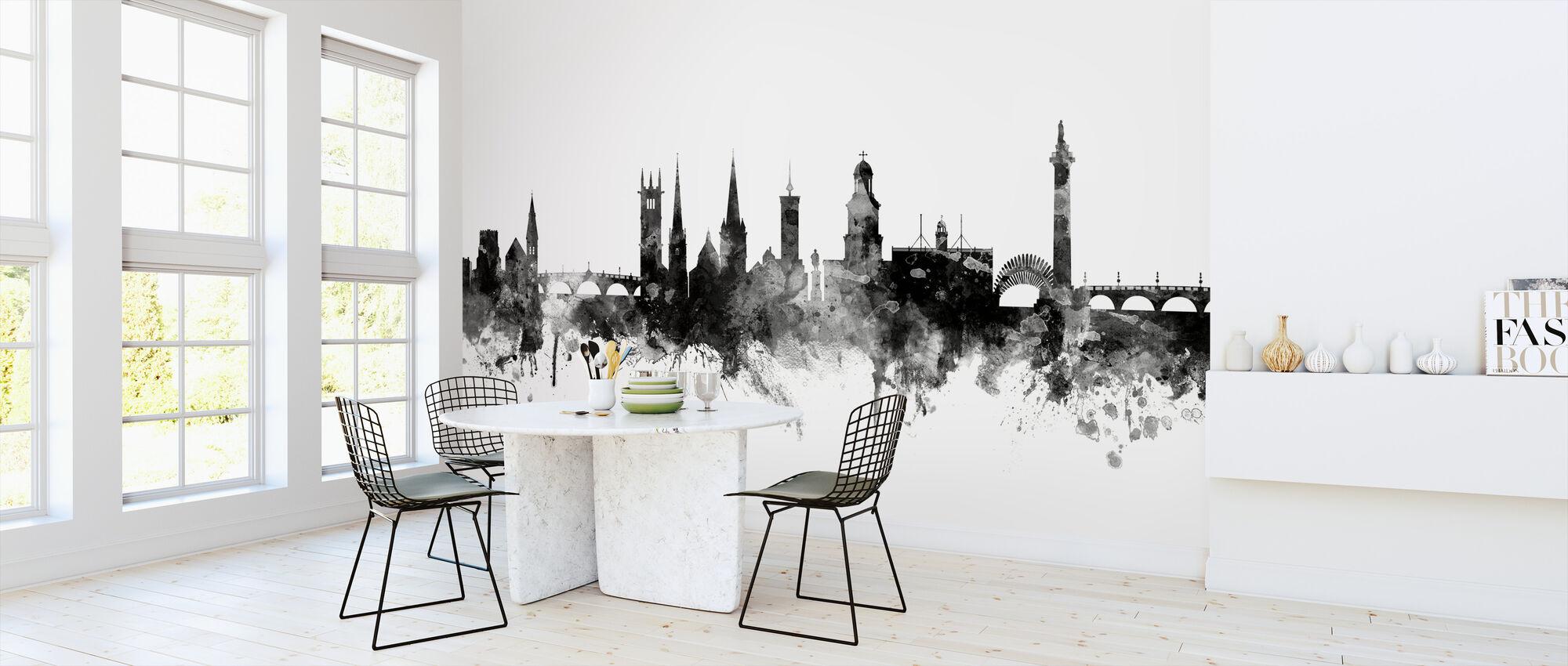 Shrewsbury Skyline Schwarz - Tapete - Küchen